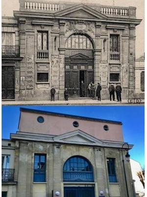 Le cinéma au début du XXe siècle (haut) et le cinéma aujourd'hui (bas).