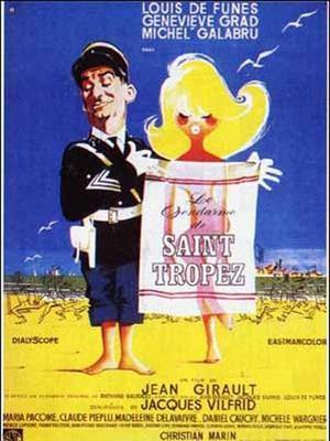 L'affiche du film «Le Gendarme de Saint-Tropez».