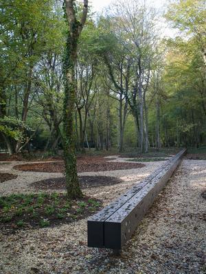 Le «jardin du troisième train» dans la forêt de Rethondes près du wagon où fut signé l'armistice, il y a cent ans.