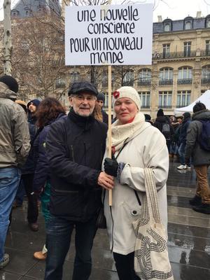«On vient à chaque fois qu'il y a quelque chose pour le climat», affirment Claude et Yolande