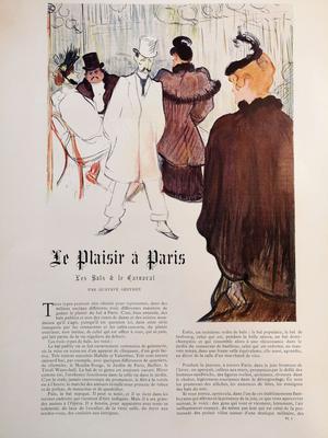 La Goulue de profil à droite: illustration de Toulouse Lautrec dans «Le Figaro Illustré» de février 1894.