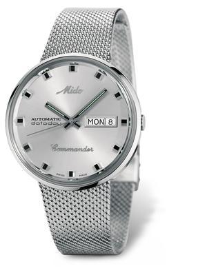 La collection Commander -qui compte un séduisant modèle quasi inchangé depuis les années1950, avec la date et le jour, et un bracelet milanais, à 840euros.