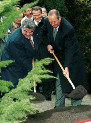 Jacques Chirac et Rafic Hariri en 1993.