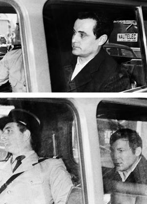 En 1971, Claude Buffet (en haut) et Roger Bontems (bas) après leur arrestation.
