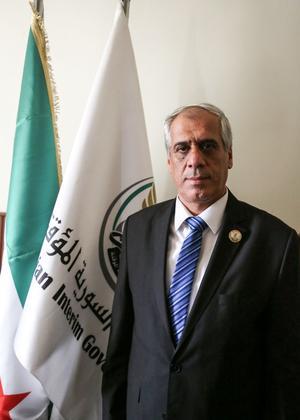 Jawad Abu Hatab, Premier Ministre du gouvernement de transition syrien.