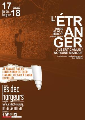 <i>L'Étranger</i>, dit par Nordine Marouf au théâtre Les Déchargeurs.