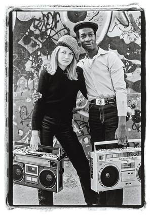 Tina Weymouth & Grandmaster Flash, à New York, en 1981.