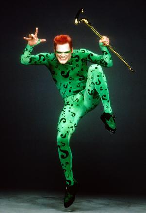 Jim Carrey est l'Homme-Mystère dans «Batman Forever» (1995).