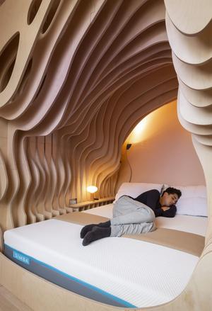 L'expert du sommeil a reconstitué le confort chaleureux du ventre maternel.