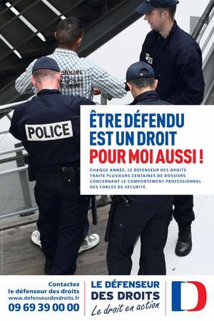 L'affiche qui a suscité la colère des policiers.