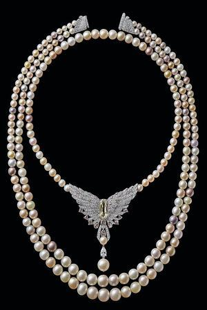 Collier de perles fines créé en 2016 en hommage à l'acquisition de l'immeuble par Cartier. (Archives Cartier)