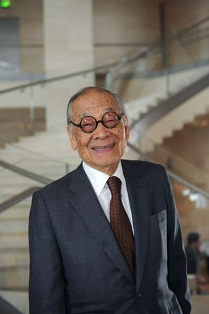 Ieoh Ming Pei aura 100 ans le 26 avril. Photo: Abaca press