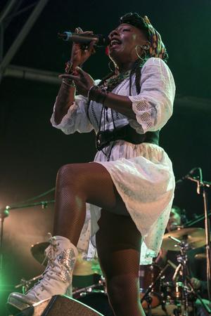 Yaite Ramos lors d'un concert en espagne le 11 novembre 2017.