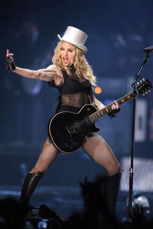 Madonna à Nice en 2008 pour ses 50 ans.