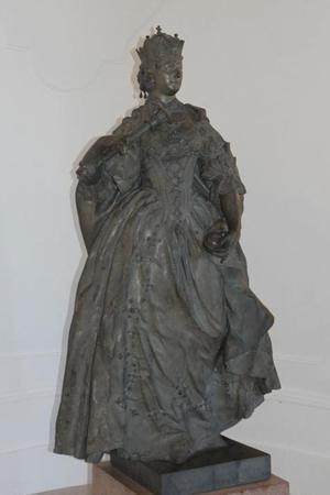 L'Impératrice Marie-Thérèse, reine de Hongrie, par Franz Xaver Messerschmidt, 1764-1766 (Vienne, palais du Belvédère).