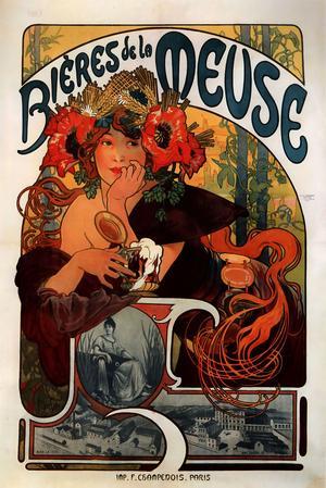 «Bière de la Meuse» d'Alfons Mucha.