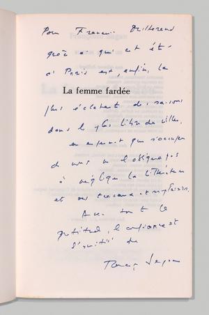 Dédicace de Françoise Sagan.