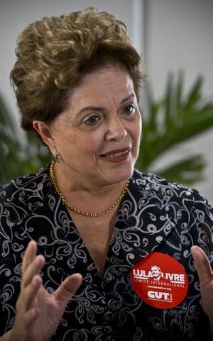 L'ancienne présidente, Dilma Roussef.