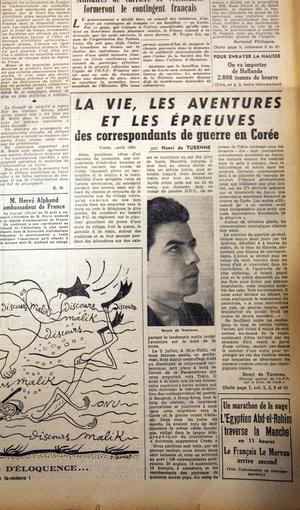 Reportage d'Henri de Turenne dans <i>Le Figaro</i> du 23 août 1950.