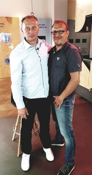 David Lima Da Costa et Eddy Seigneur, le directeur sportif.