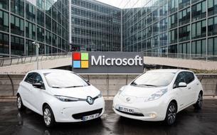 Renault-Nissan et Microsoft s'allient dans la voiture connectée