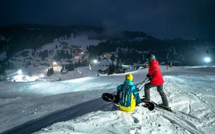 Manigod, spot de ski nocturne en Savoie Mont Blanc