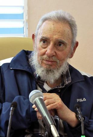 A l'occasion, le leader de la Révolution cubaine était visible avec un survêtement Fila.