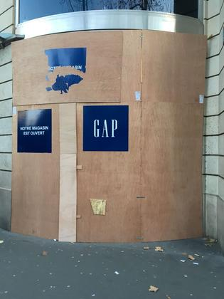 Le magasin Gap du boulevard Haussmann