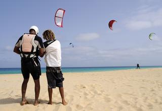 kitesurf au Cap Vert.