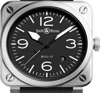 BR03-92 faite pour le GSPM, ouvement automatique, 2800 € (pour la version <br/>non customisée) Bell &amp; Ross.