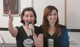 Aurore Ponsonnet et Sandrine Campese composent une dictée coquine et mettent au défi les participants, une fois par mois.