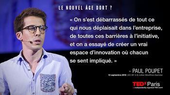 Paul Poupet au TedX Paris
