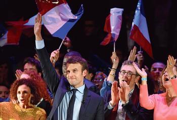 Emmanuel Macron lors d'une rencontre avec la communauté française de Londres, mardi.