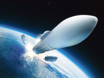 La fusée Ariane 6, en cours de développement par ArianeGroup.