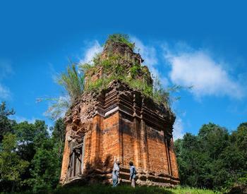 Le temple de Phnom Kulen, à Siem Reap, au Cambodge.