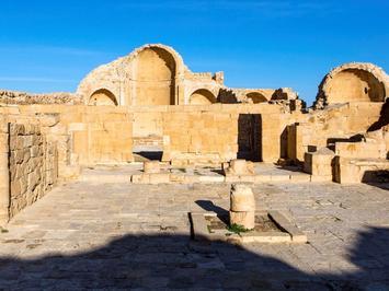 Le dessin a été découvert dans l'abside d'un baptistère. Il y a trois églises byzantines sur le site de Shivta.