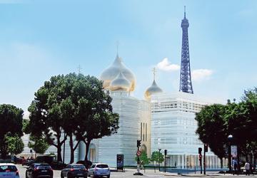 L'église orthodoxe russe sera érigée au pied du pont de l'Alma.