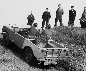 Les premiers essais de franchissement d'un prototype.
