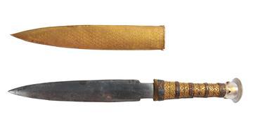 La dague en fer retrouvée dans le tombeau de Toutankhamon.