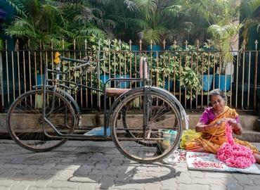 Le quartier français de Pondichéry en Inde.