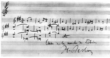 Partition manuscrite autographe de «Harold en Italie» par Hector Berlioz, 1834.