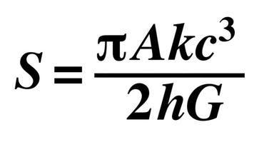 L'équation de Hawking est la première à mêler une constante quantique (la constante de Planck h) à la constante gravitationnelle G.
