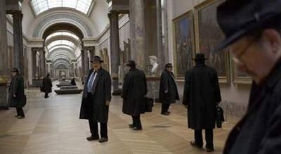 Umberto Eco au Louvre.