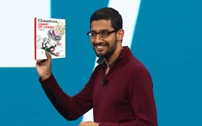 Sundar Pichai, le PDG de Google est un grand fan de <i>Gaston Lagaffe</i>.