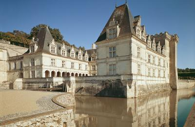 Cour d'honneur du château de Villandry.