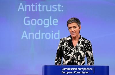 Margrethe Vestage, commissaire chargée de la politique de concurrence