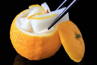 Le yuzu-gama, spécialité culinaire japonaise.