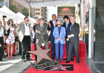 Charles Aznavour avait inauguré son étoile sur le Walk of Fame de Hollywood en 2017.