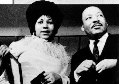 Aretha Franklin et Martin Luther King à la fin des années 1960.