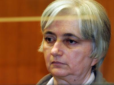 Monique Olivier dans le box des accusés en 2008, lors de son procès.